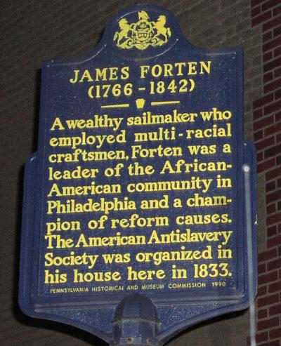 James Forten Historical Marker